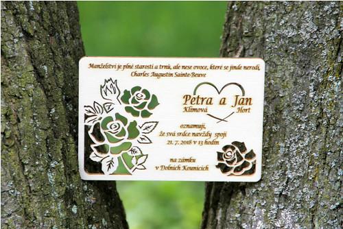 Navždy spolu - svatební oznámení - růže