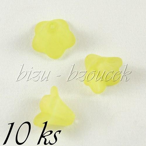 Žlutozelené akrylové zvonečky - 10ks
