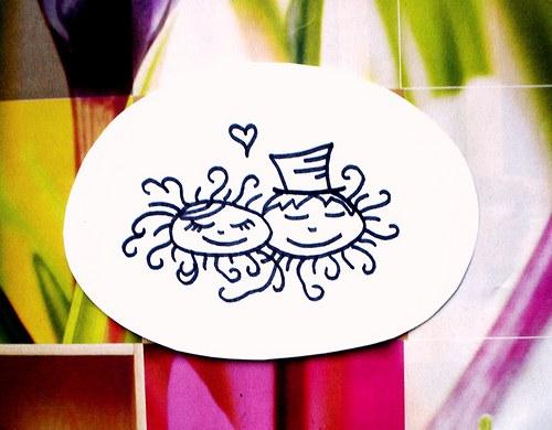 Svatební č. 35... Omyvatelné razítko.