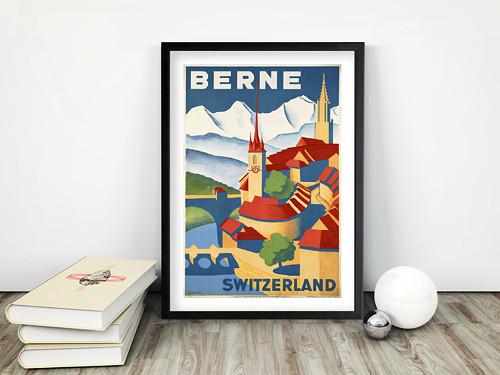 Vintage plakát Berne Switzerland