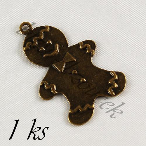 Perníček bronzové barvy - 1ks