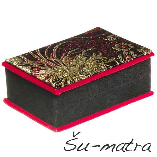 Vyšívaná dárková krabička, 10,4x7,4x4 cm