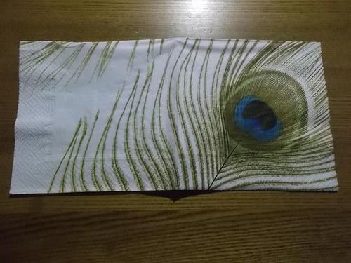 Ubrousek na decoupage - paví oko