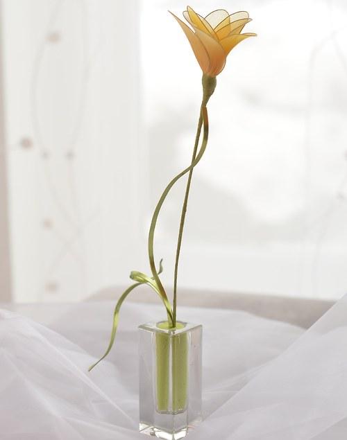 """Nylon flowers \""""Květ ve skle vysoký\"""""""