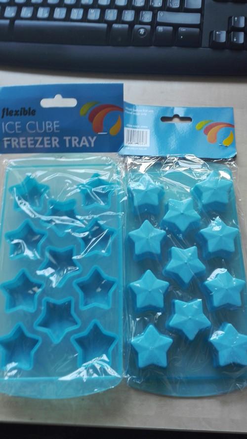 Forma plastová hvězdička/ modrá/ 1kus