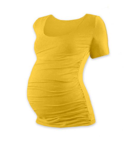 Těhotenské tričko KR žluté