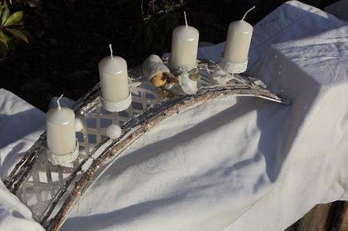 Adventní svícen ANDĚLSKÝ
