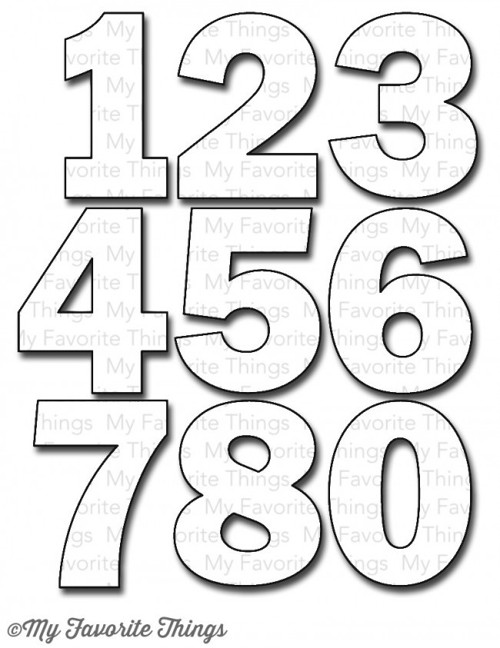 Vyřezávací šablona - Die-namics By the Numbers