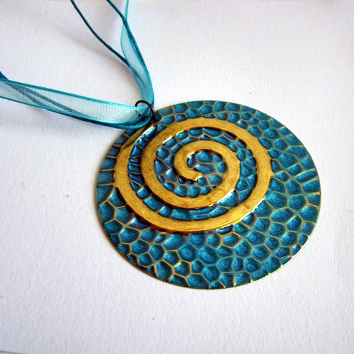 náhrdelník Tyrkysová spirála