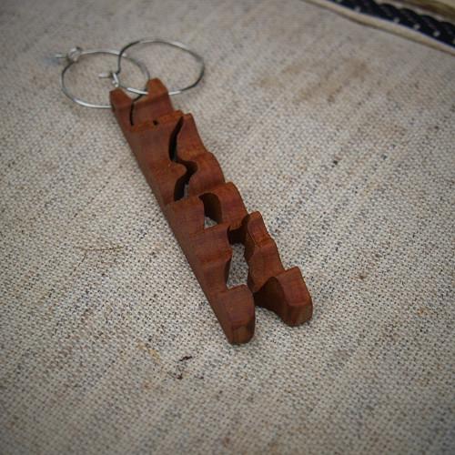 Dřevěné naušnice X.