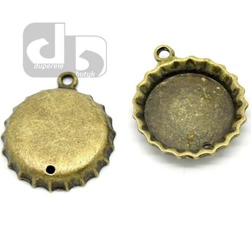 Bronzová lůžka - pivní víčka 2 ks