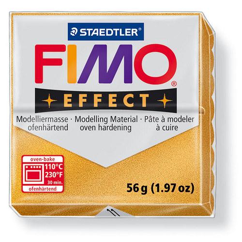 Fimo effect metalická zlatá 11