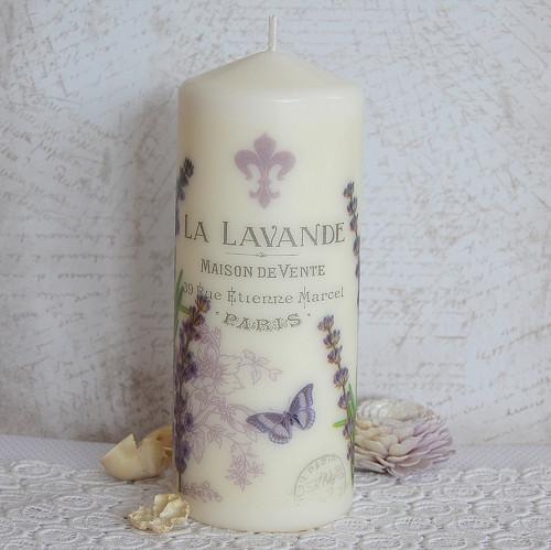 Levandule vintage (svíčka MAXI - 20x8cm)