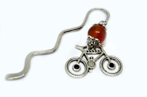 Záložka karneol a bicyk