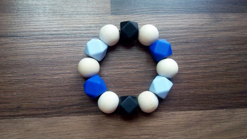 Kousátko modro-černé