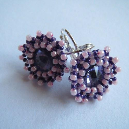 Růžové snoubení s fialovou