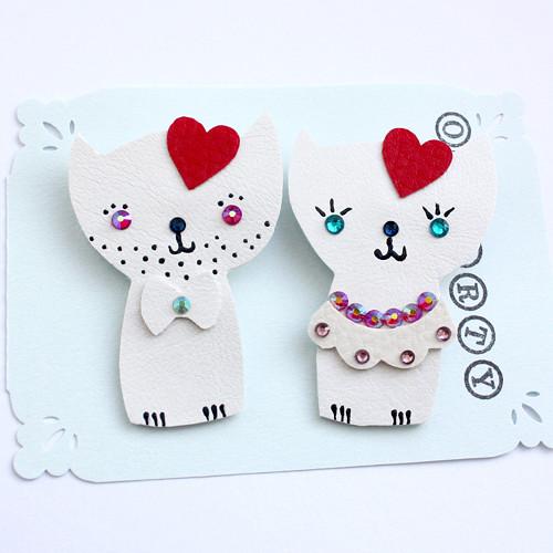 Svatební kočičky pro nevěstu a ženicha
