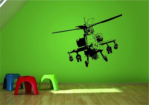 Samolepka na zeď - Vojenský vrtulník