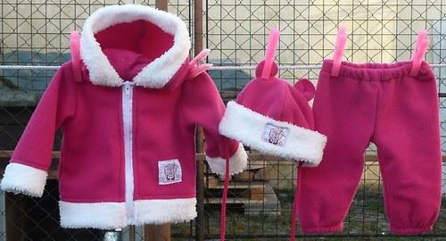 Zimní souprava na panenku