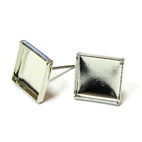 Naušnicové lůžko s puzetou - čtverec - 1 pár
