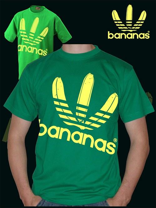 Pánské zelené tričko Bananas velký potisk