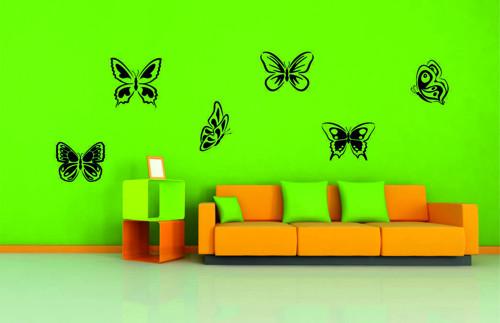 Samolepka na zeď - Motýlí set
