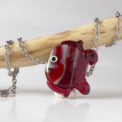 Rybka zadumaná (náhrdelník z vinutek)