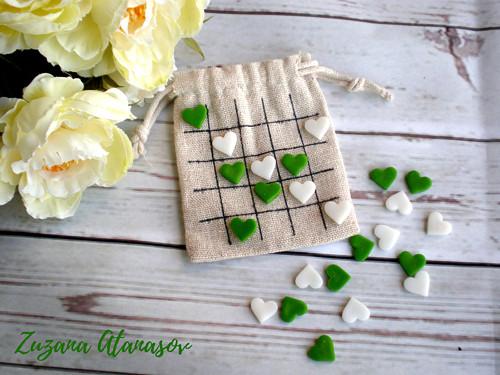 Piškvorky cestovní - zelená srdíčka