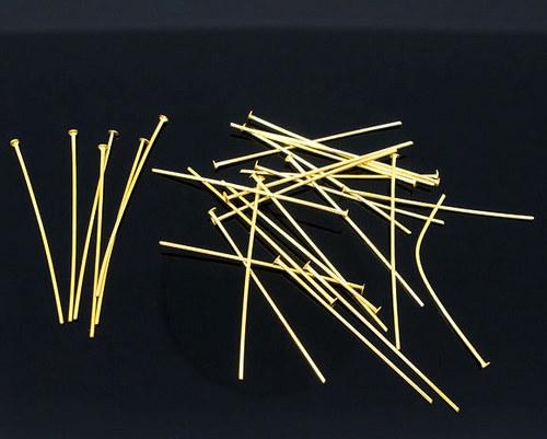 Hřebík 2,6cm - 100ks - Zlatý