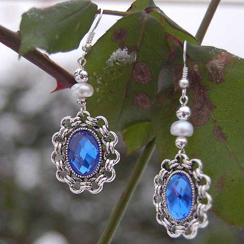Safírky s říčními perlami