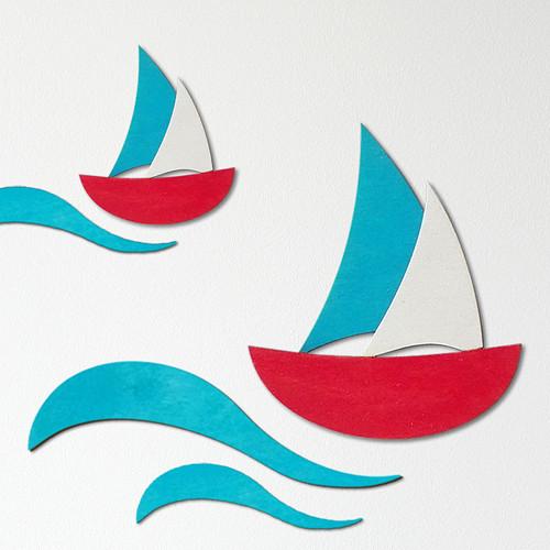 Loďka (design II) - dekorace na zeď