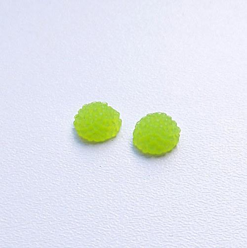 květinka / zamrzlá/ 10mm/ zelená/ 2ks