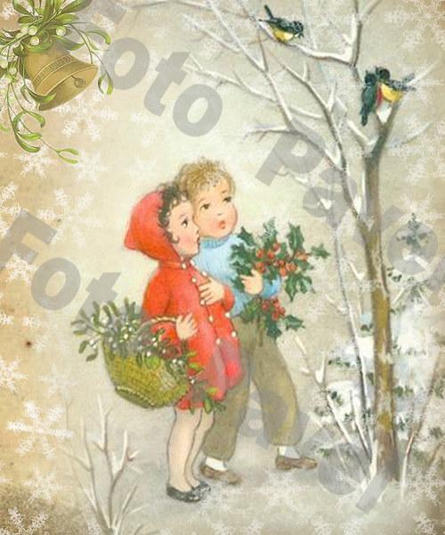 Vintage motiv - vánoce 13-5a