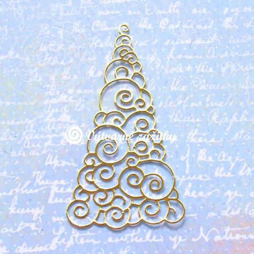 Vánoční stromeček zlatý