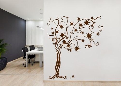 Samolepky na zeď - Listnatý strom (61 x 70 cm)