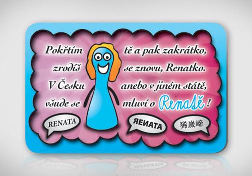 Poetická magnetka se jménem Renata
