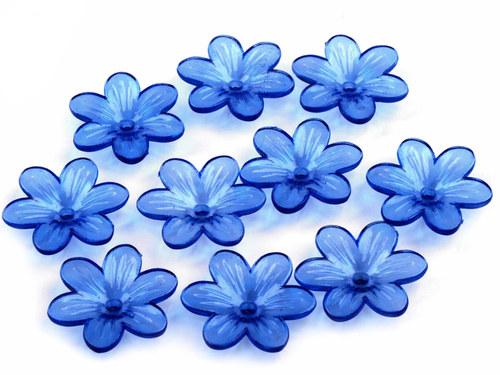 květ modrý Ø26mm, 2ks