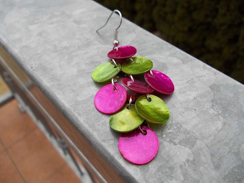 Perleťopenízkové fuchsiovo-zelené