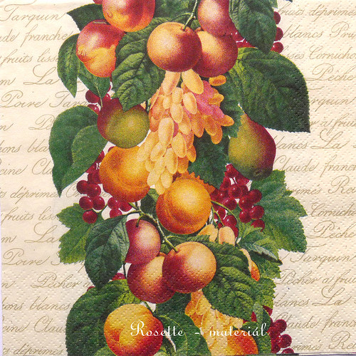 Ovoce na větvičkách - ubrousek velký