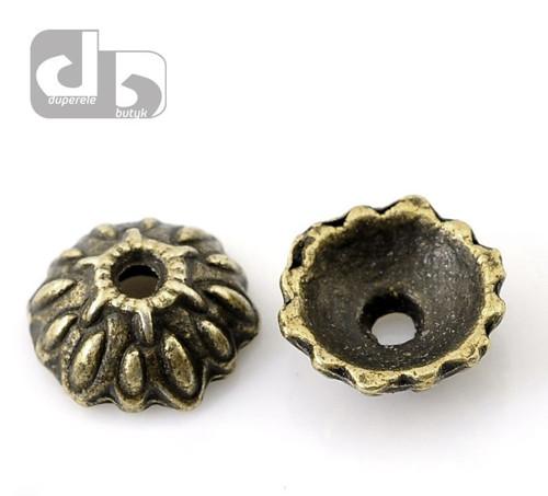 Bronzové kaplíky 10 ks