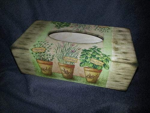 Krabička na kapesníky Herbs