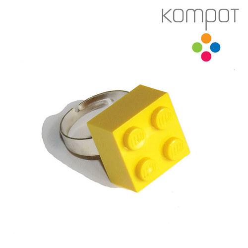 LEGO PRSTEN :: žlutý