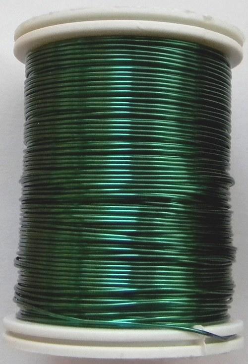Měděný lakovaný drát 0,8 mm zelený