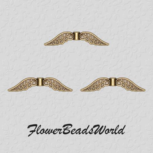 Křídla 32x7x2mm, antický bronz (4ks)