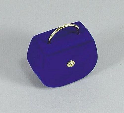 Modrá taška - sametová krabička na šperky