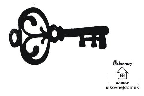 Razítko okrasný klíč - v.5x9cm