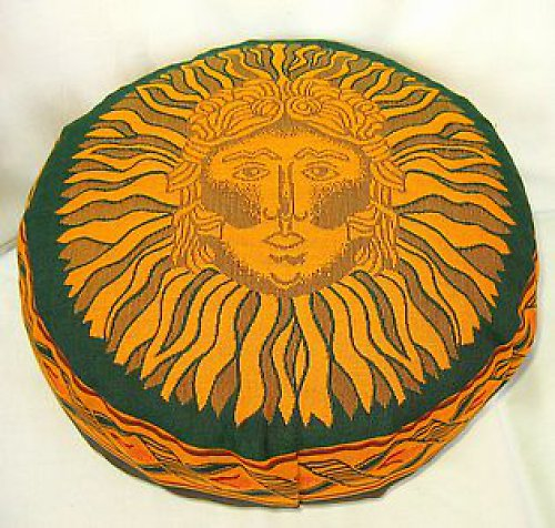 Taburetka zelená Slunce, špaldové slupky,10 cm