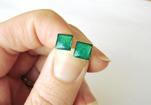 Zelené mini kostičky... 7mm ocel pro alergiky