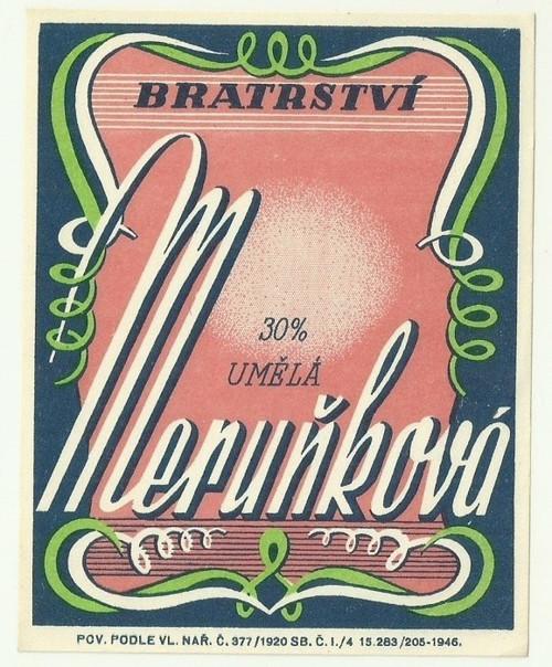 Etiketa 30% Meruňková