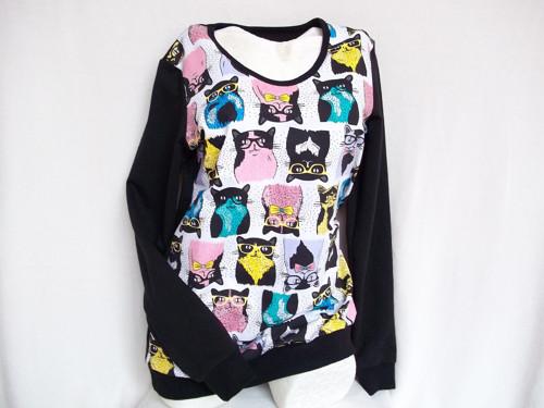Dámská tričkomikina - Kočky vel. - L